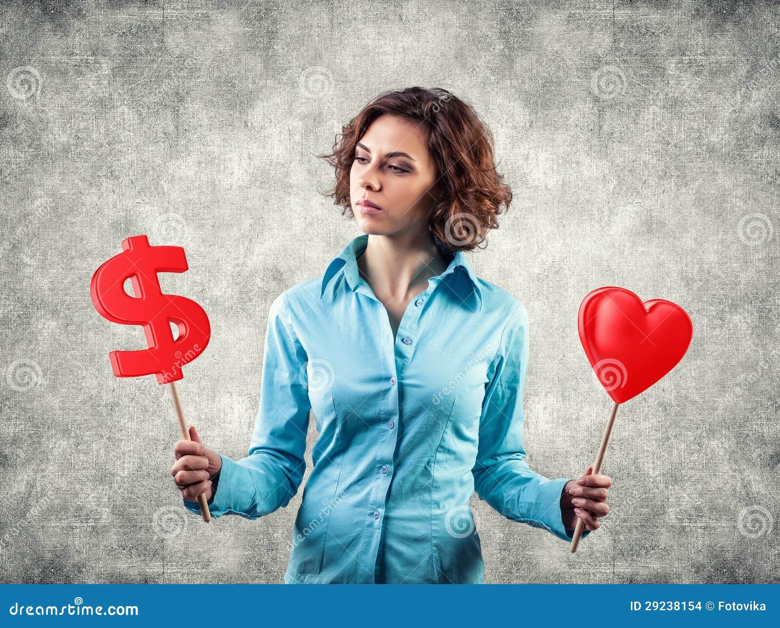 Download A Menina Escolhe O Dinheiro Foto de Stock - Imagem de mão, inclinação: 29238154