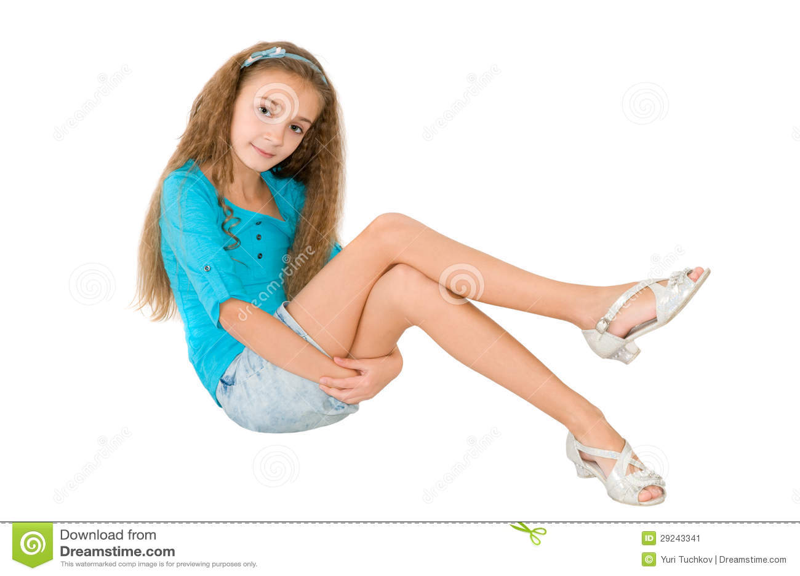 Download Menina na blusa azul imagem de stock. Imagem de branco - 29243341