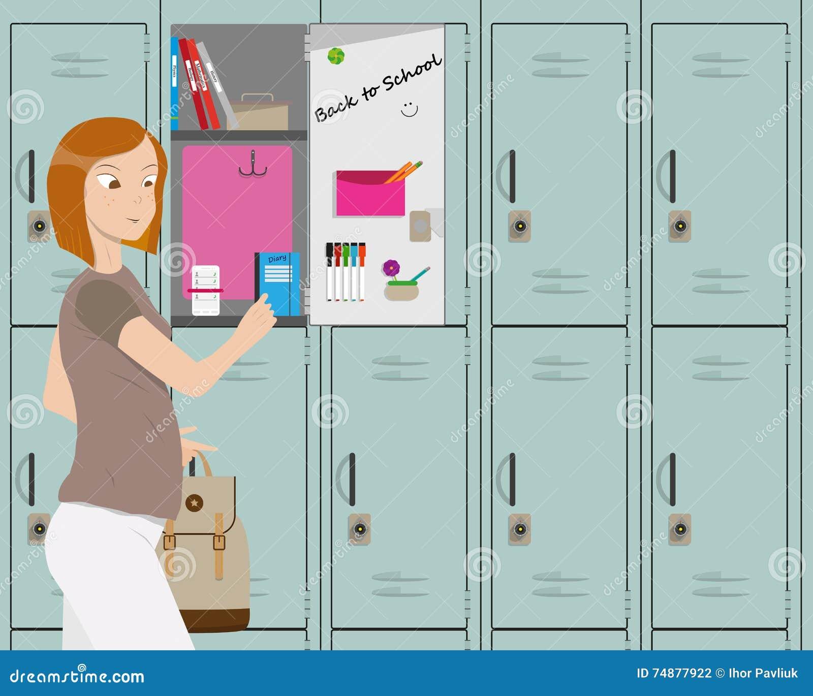 Menina na escola