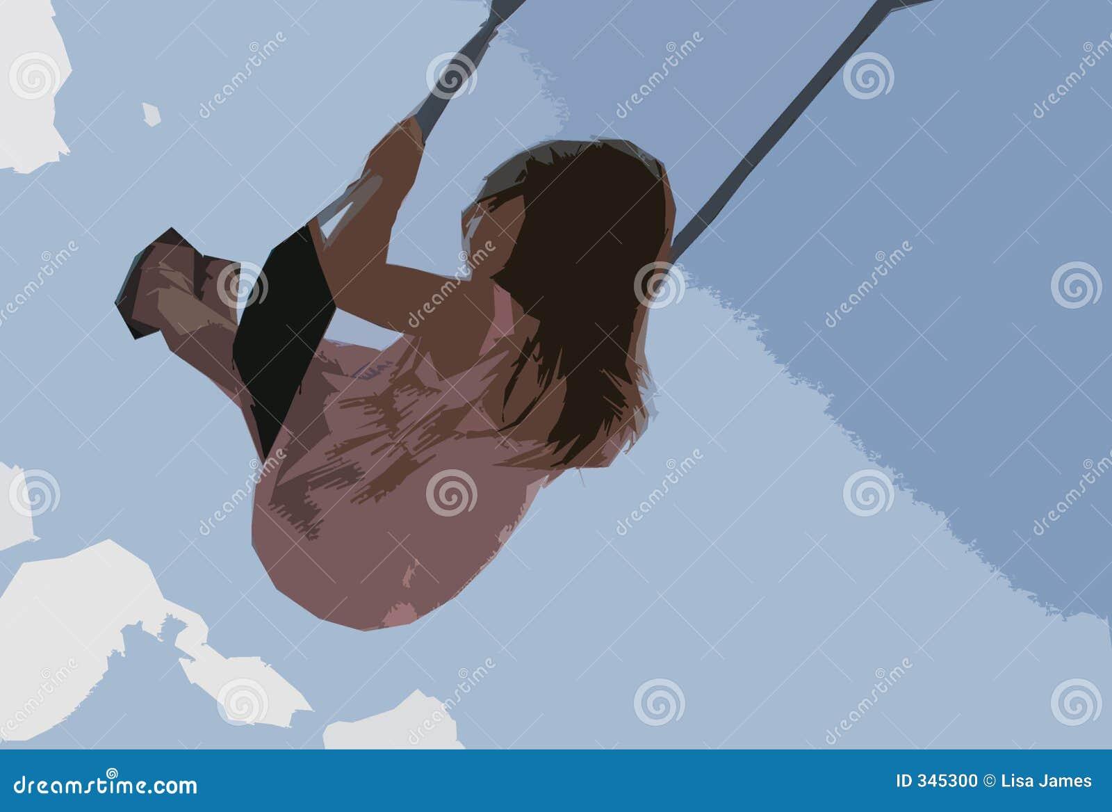 Menina no balanço