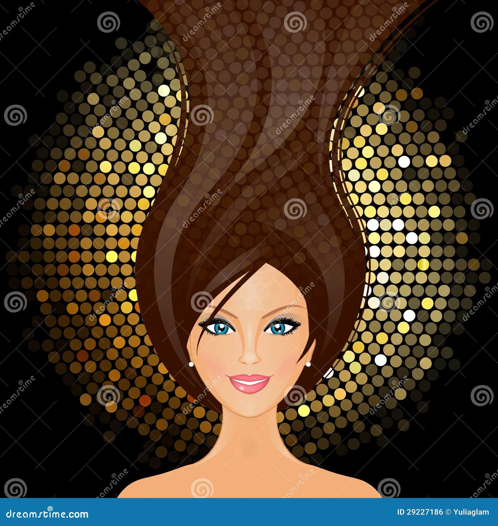 Download Menina no clube ilustração do vetor. Ilustração de fundo - 29227186