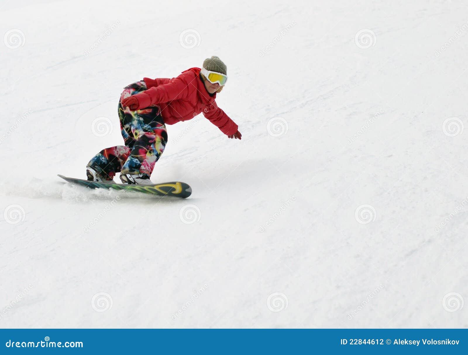 Menina no snowboard