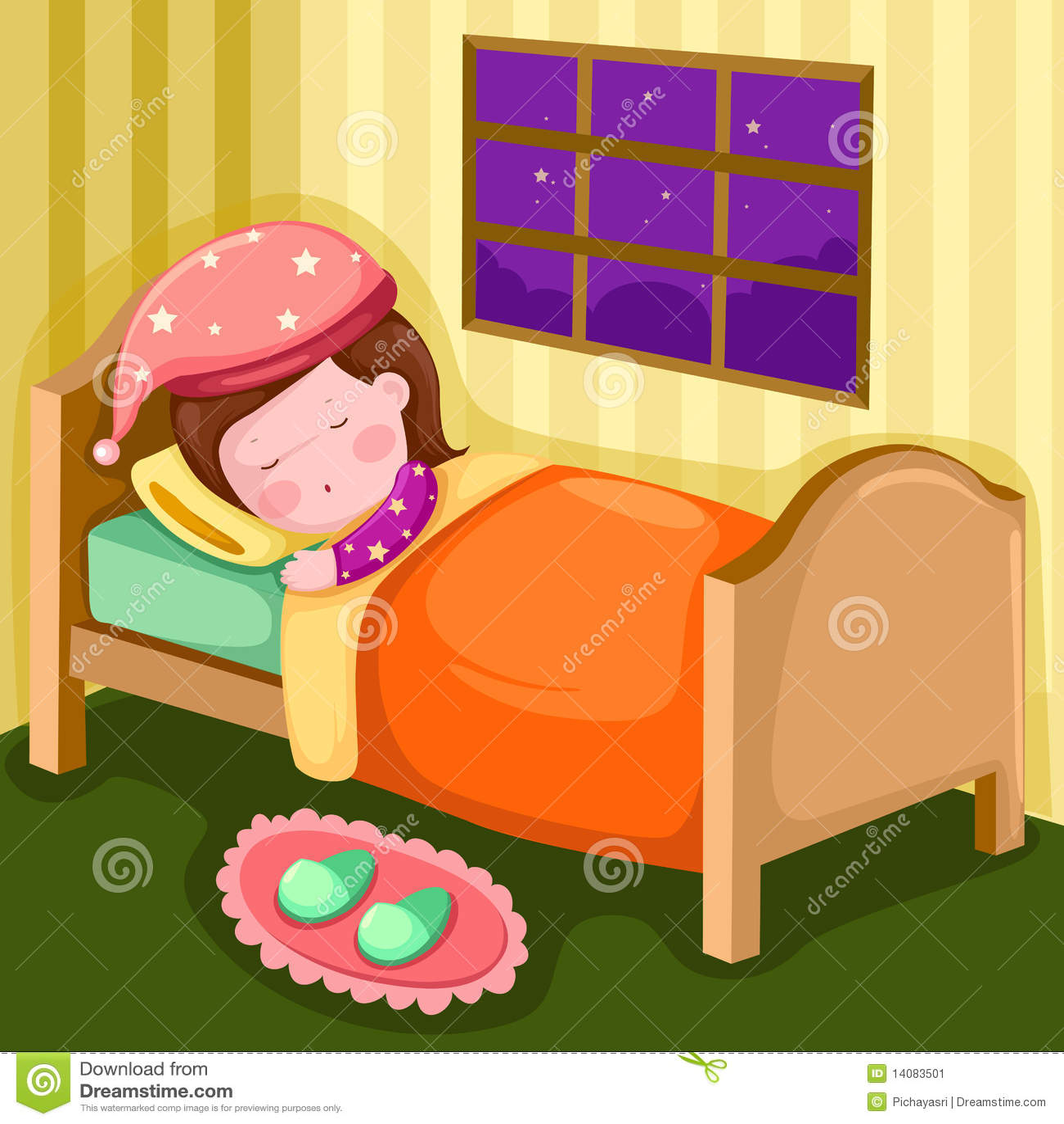 Desenho No Quarto ~ Menina Que Dorme Em Seu Quarto Imagem de Stock Imagem 14083501