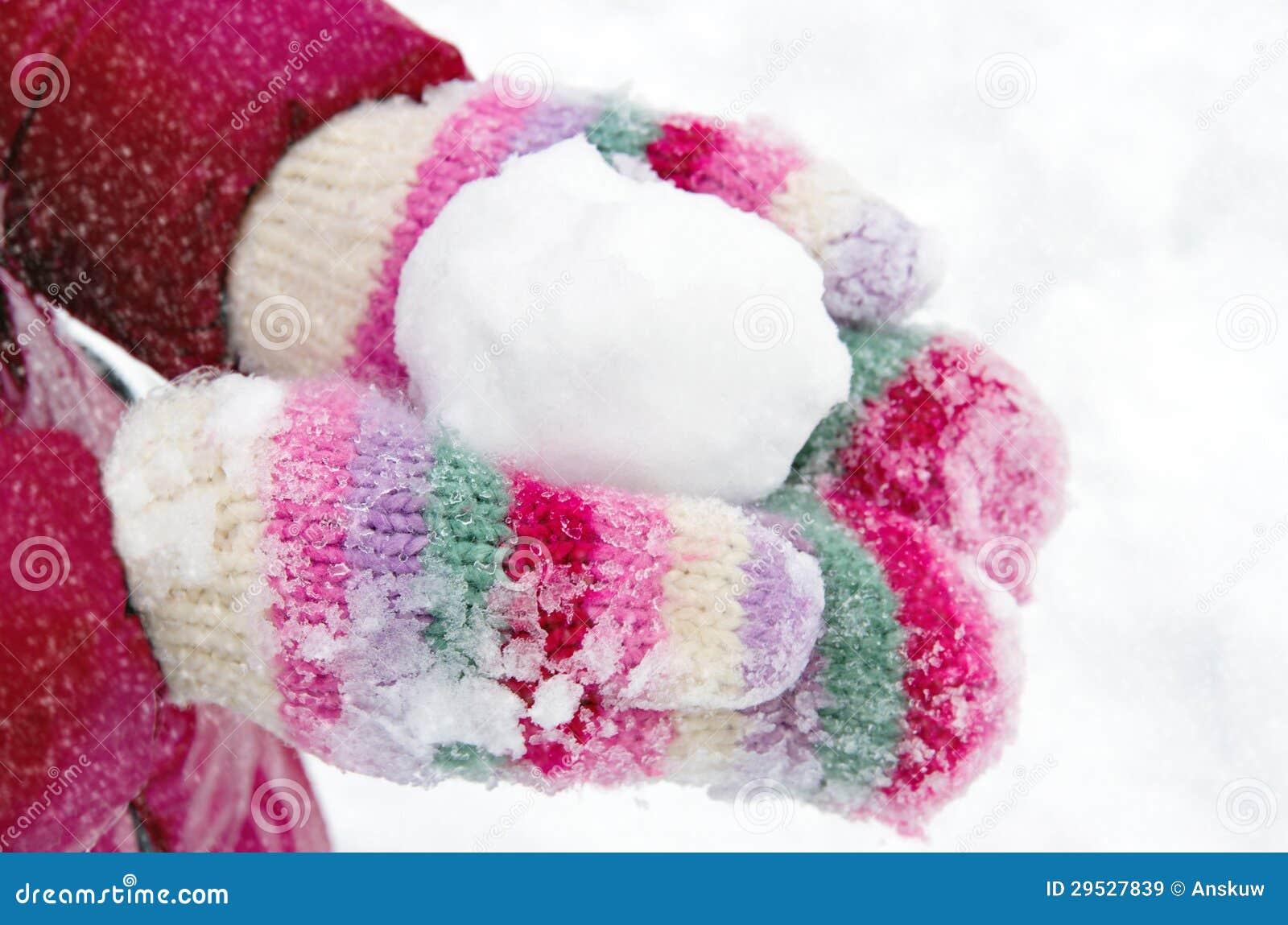 Menina que guardara um snowball