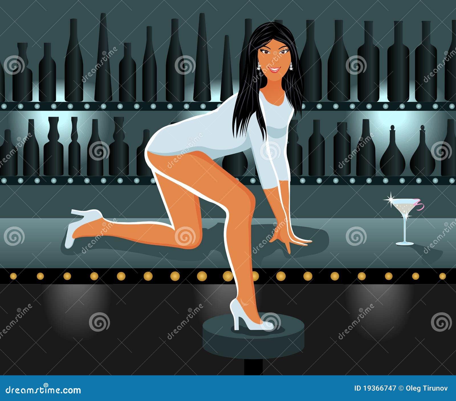 Menina  sexy  no clube de noite