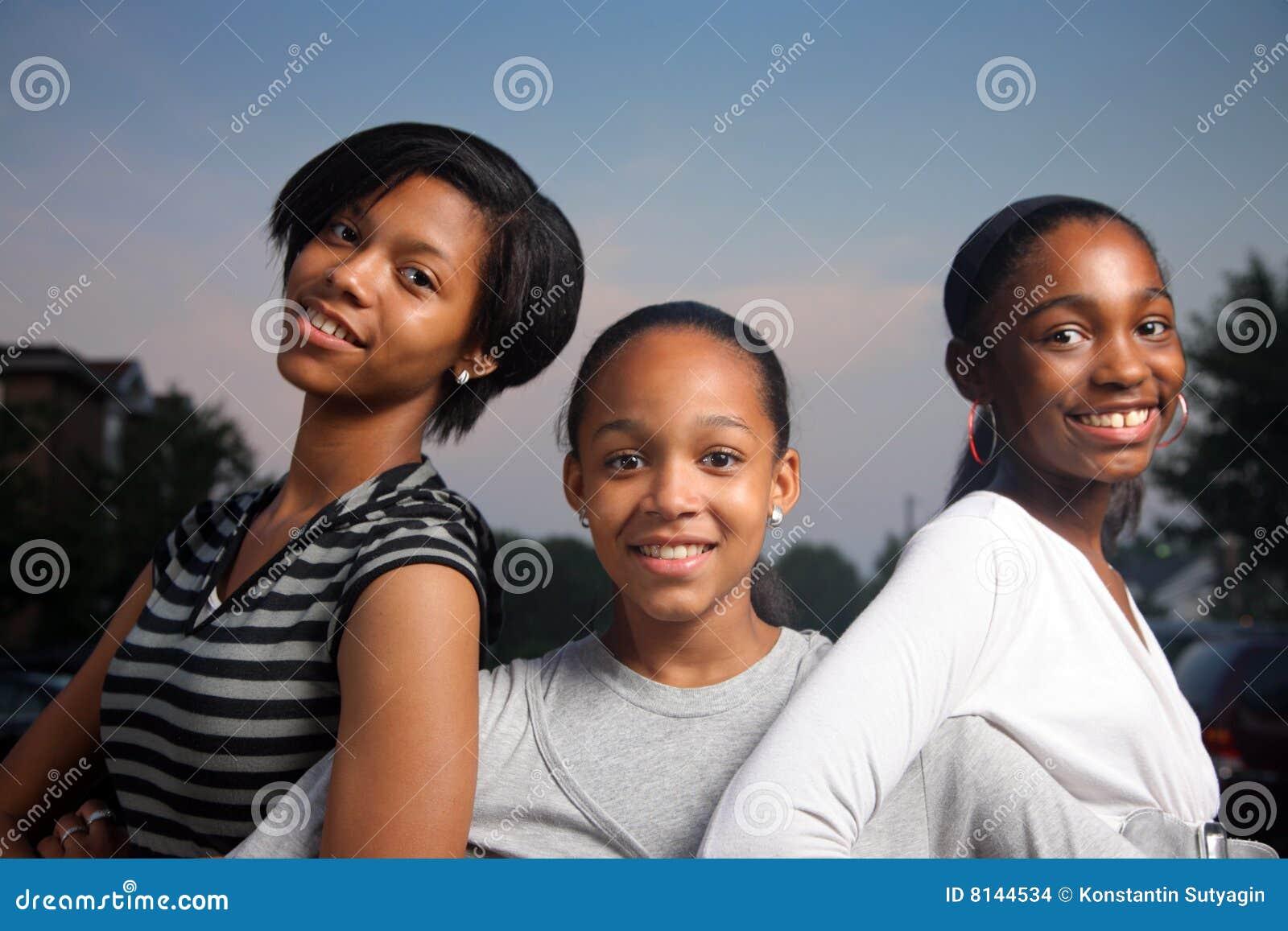 Meninas do americano africano