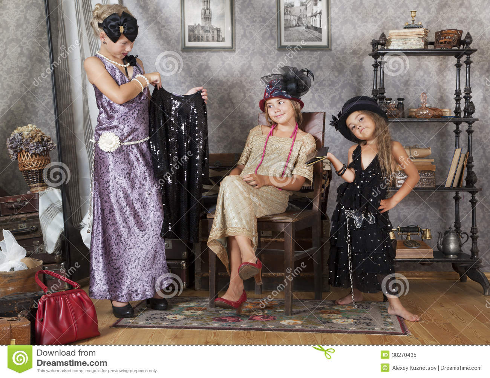 Meninas do vintage