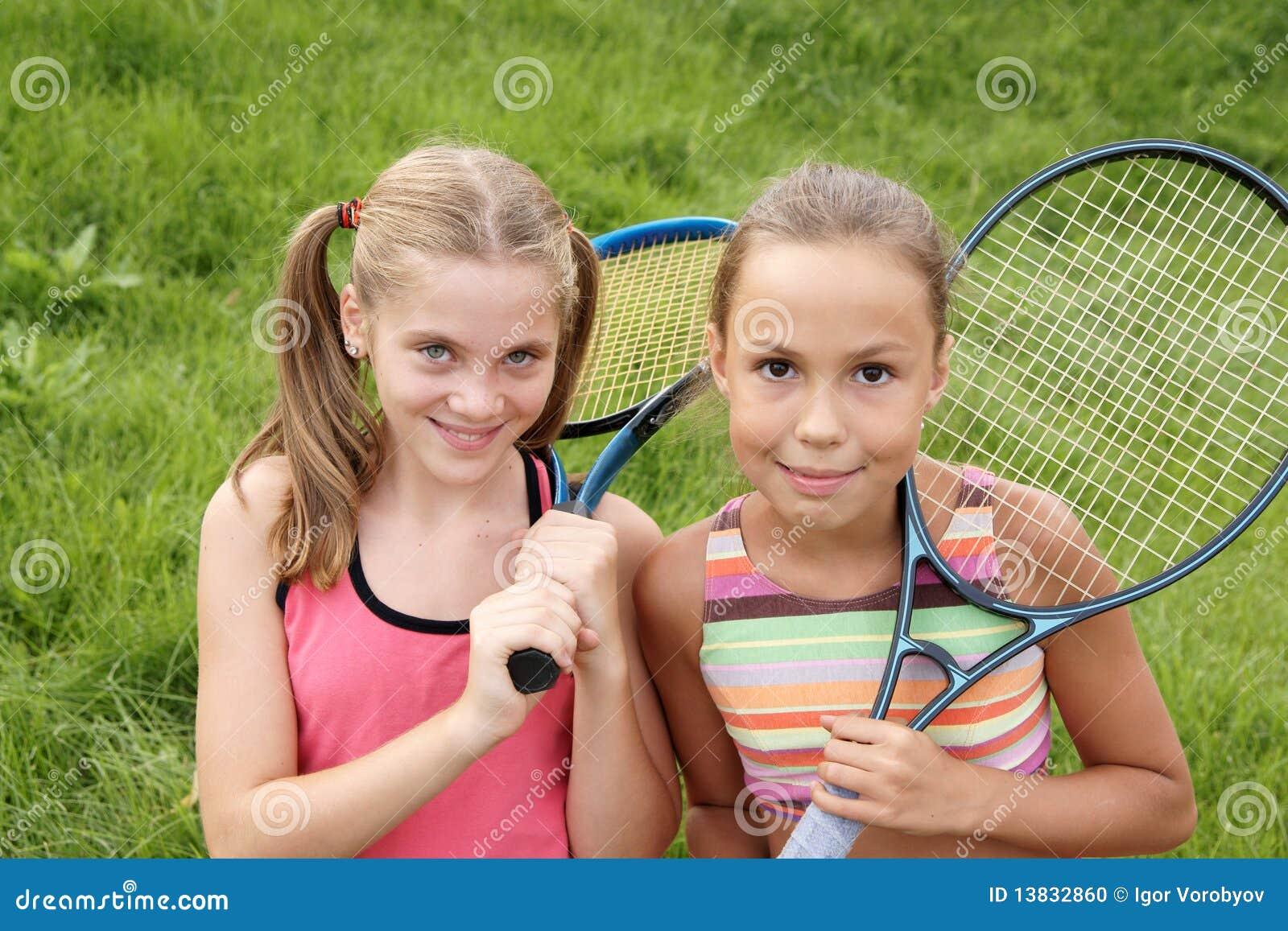 Meninas felizes do preteen