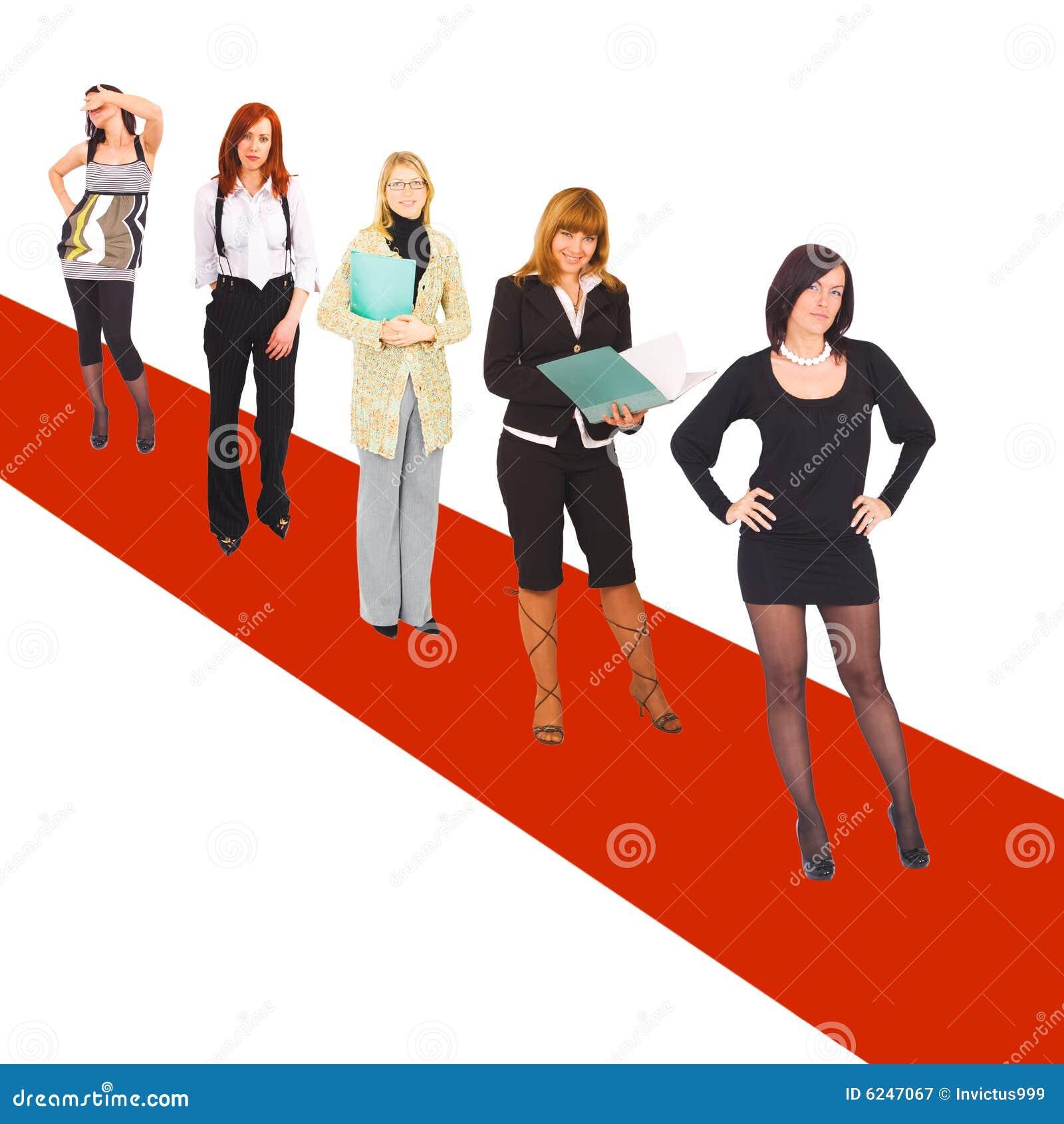 Meninas no tapete vermelho