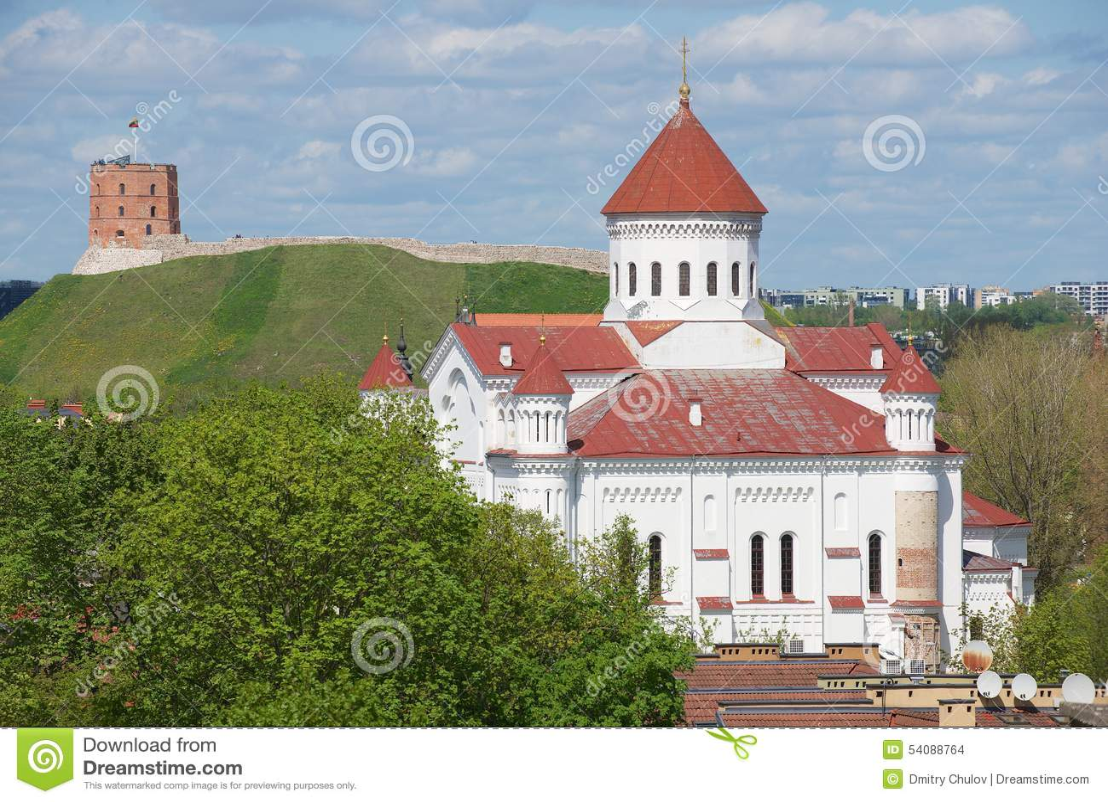 Mening aan de Kathedraal van Theotokos in Vilnius, Litouwen