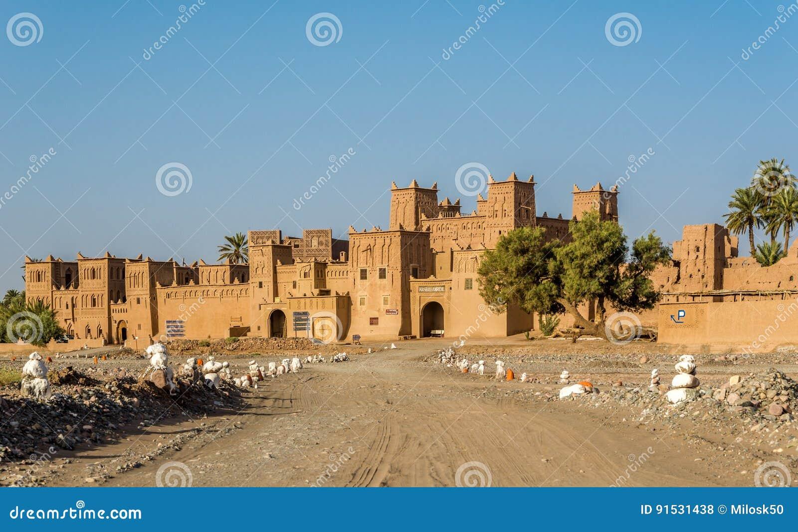 Mening in Amridil Kazbah van Skoura-oase - Marokko