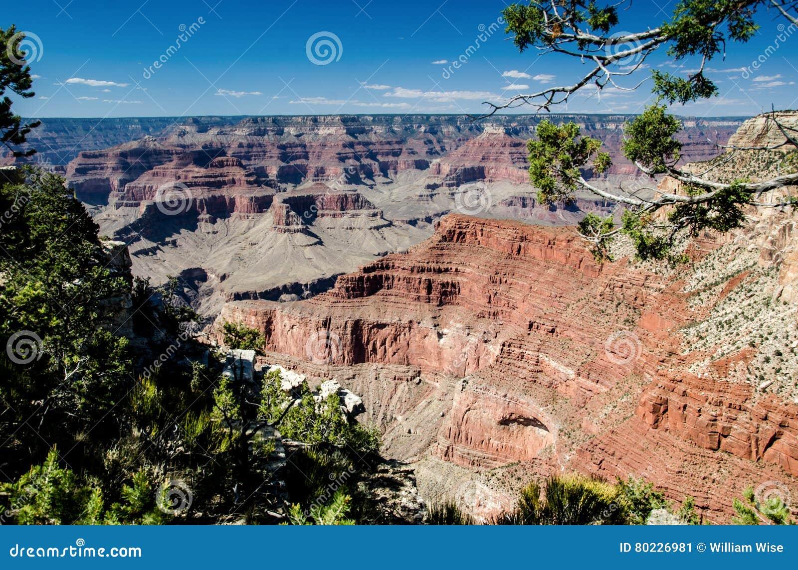 Mening in het Kloof, het Nationale Park van Grand Canyon