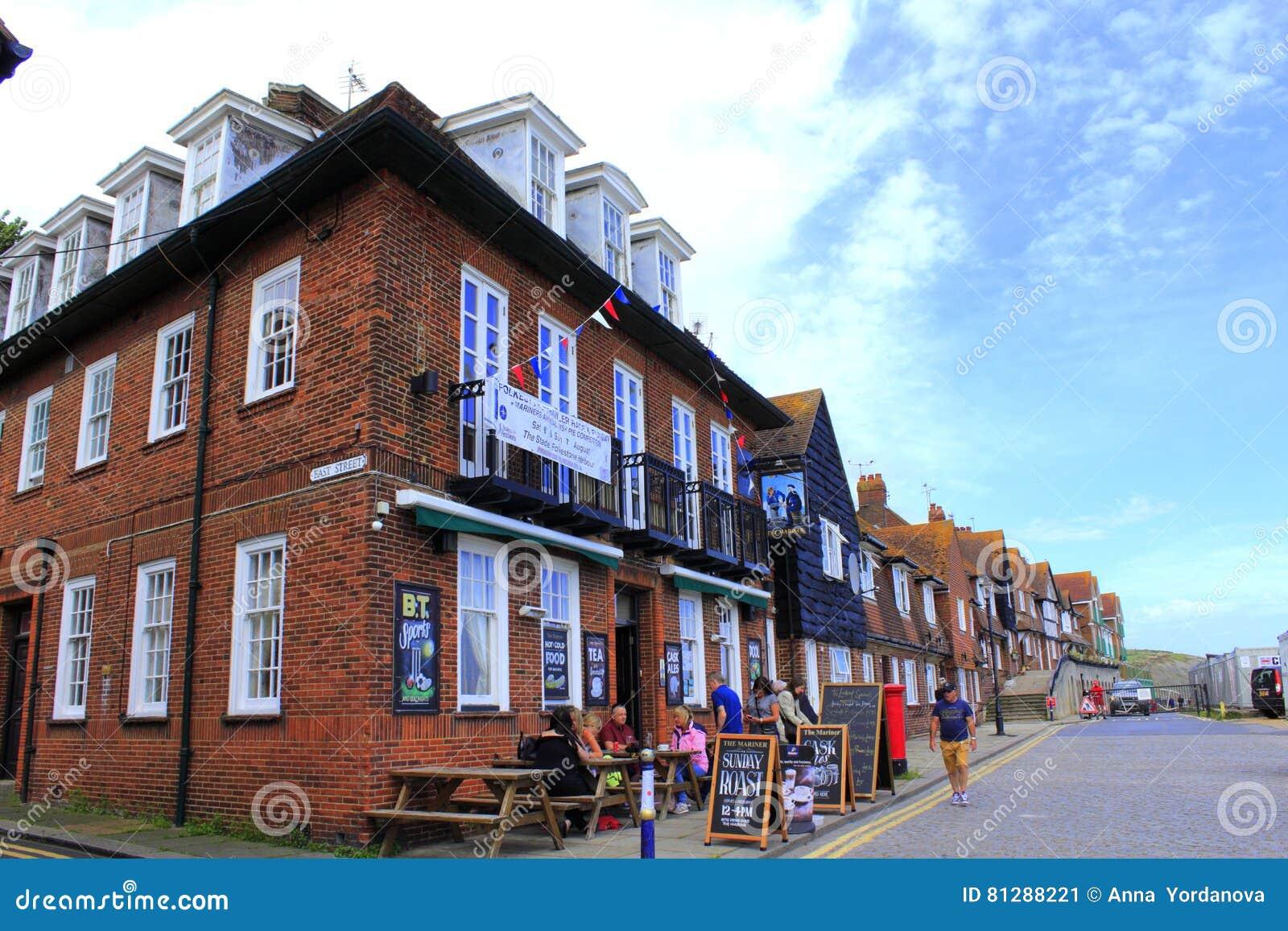 Mening Kent Great Britain van de Folkestone de kuststraat