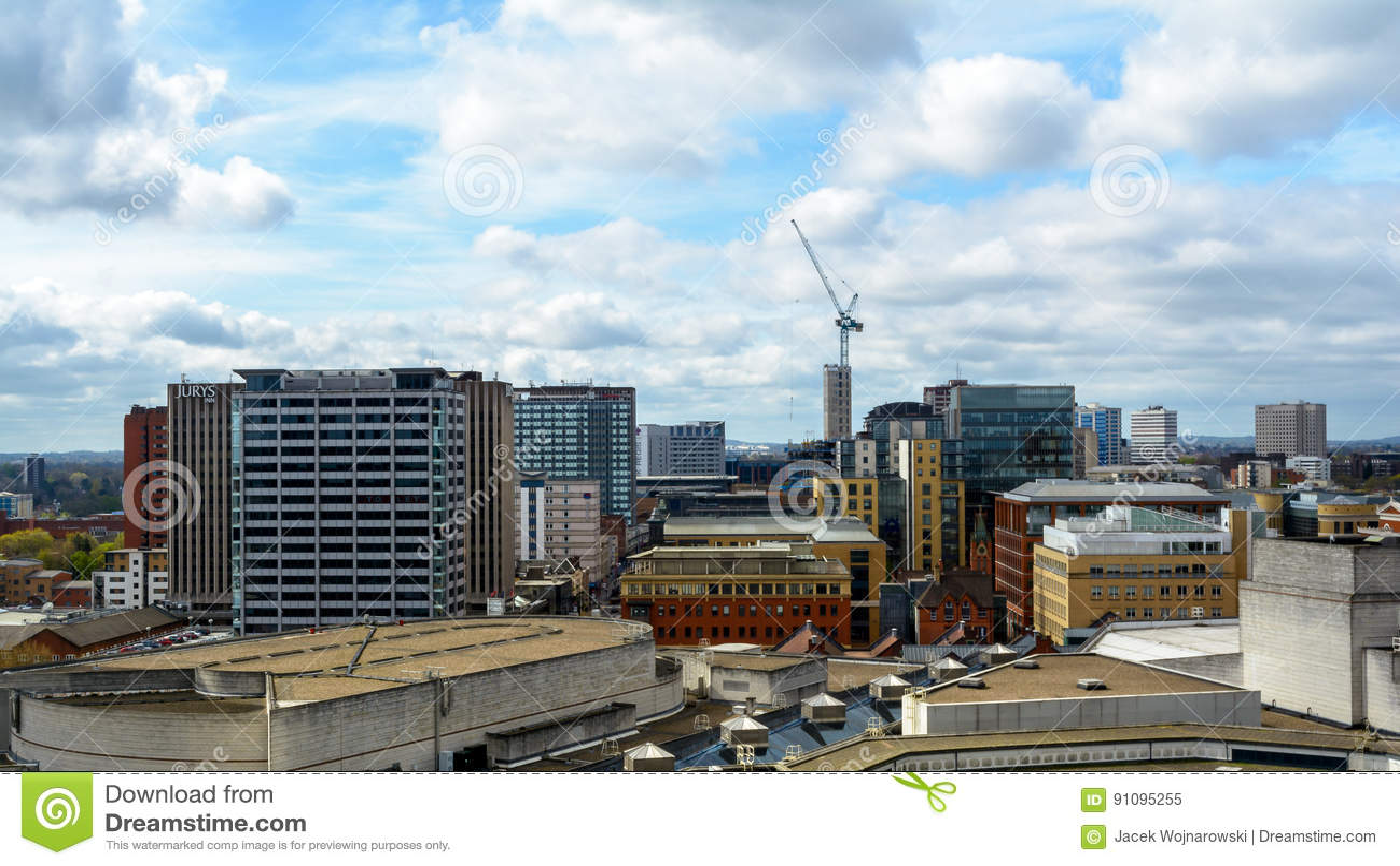 Mening over Birmingham Engeland