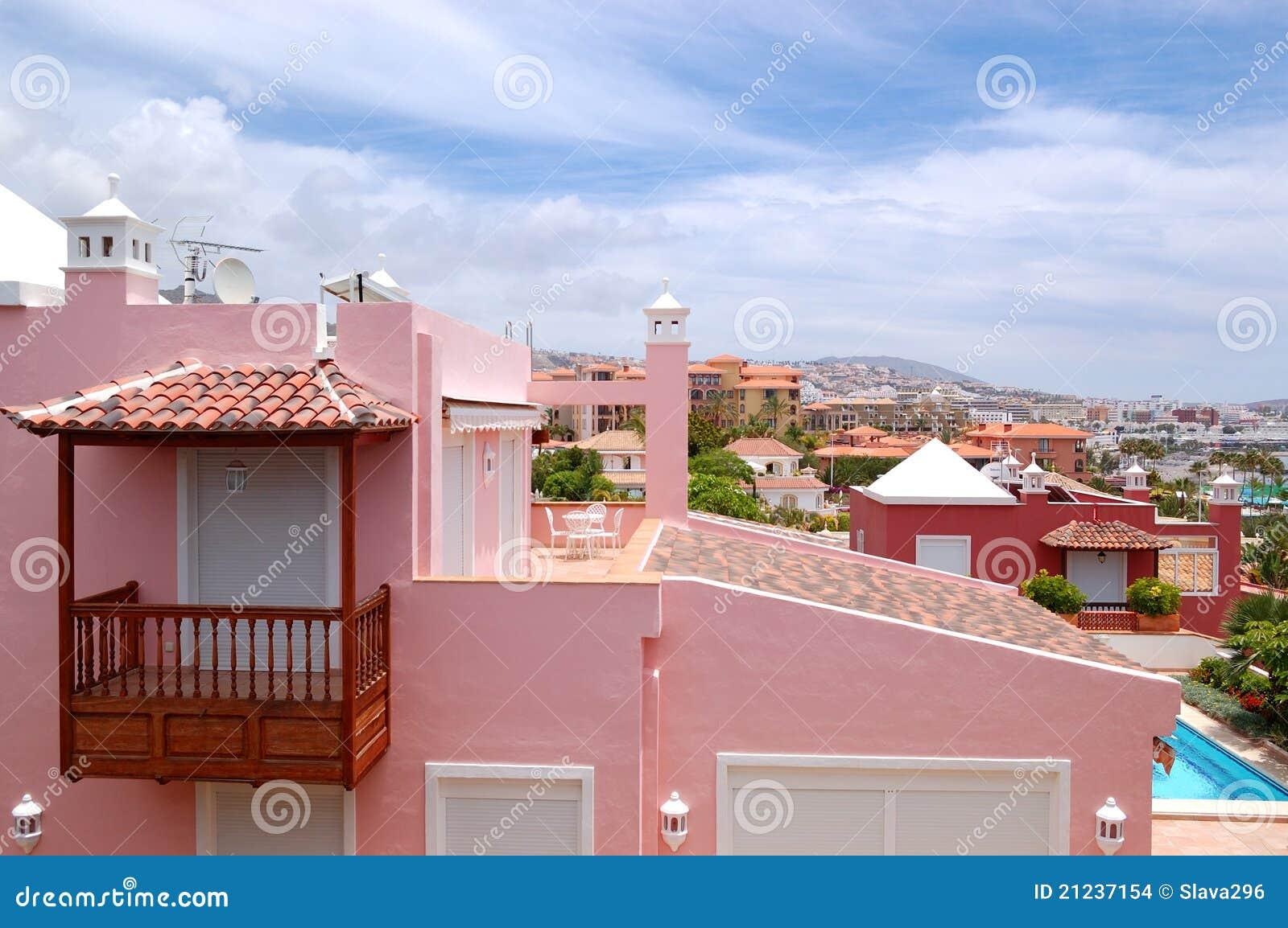 Mening over de roze villa stock afbeeldingen afbeelding 21237154 - Ontwerp leuning ...