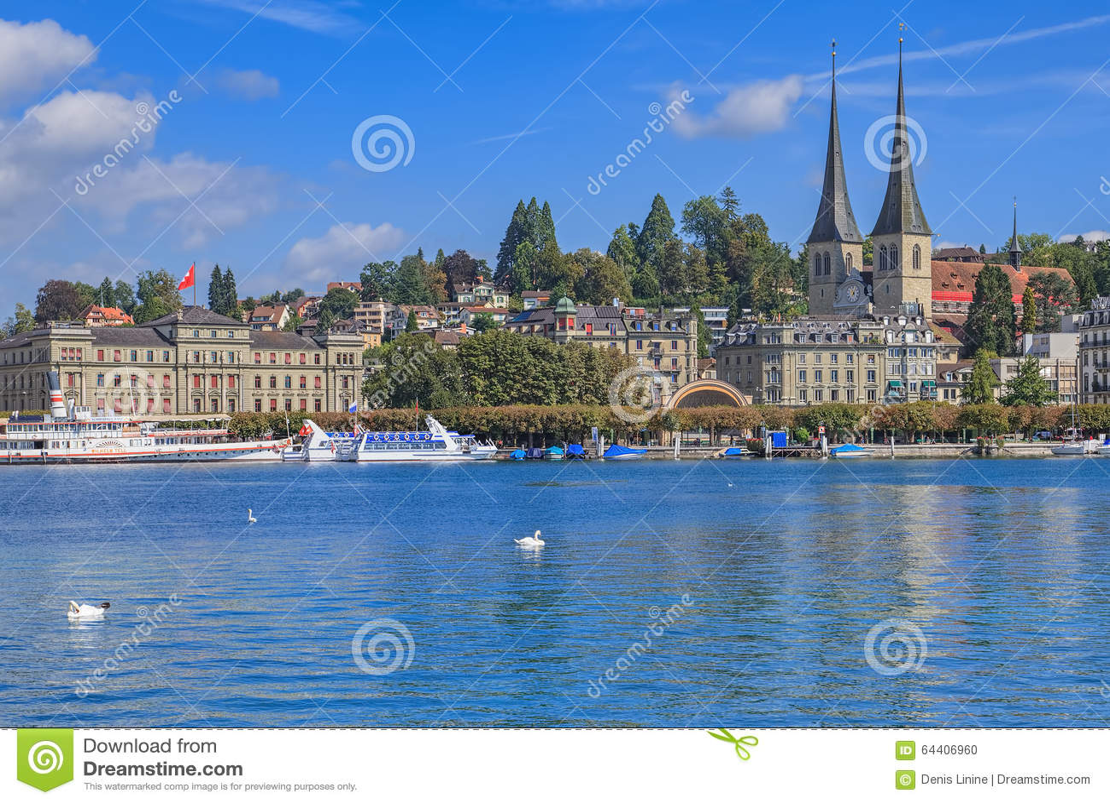 Mening over de stad van Luzerne over het Meer Luzerne