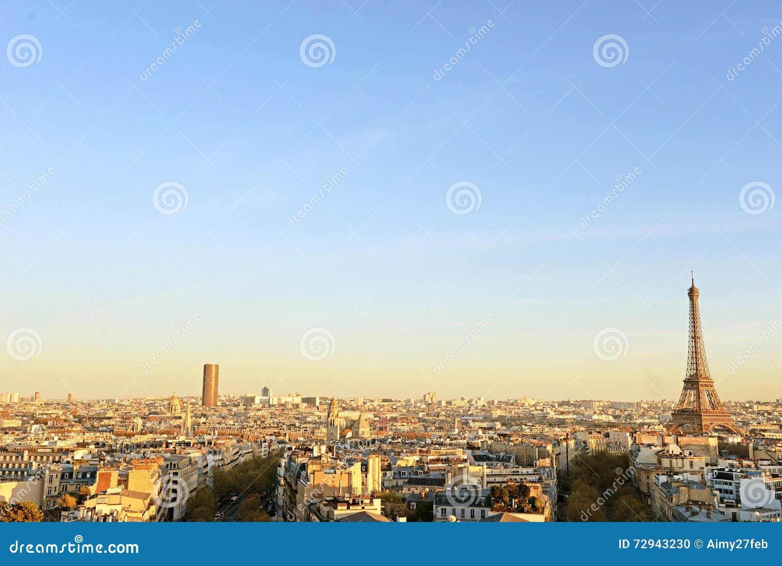 Mening over de Toren van Eiffel, Parijs, Frankrijk