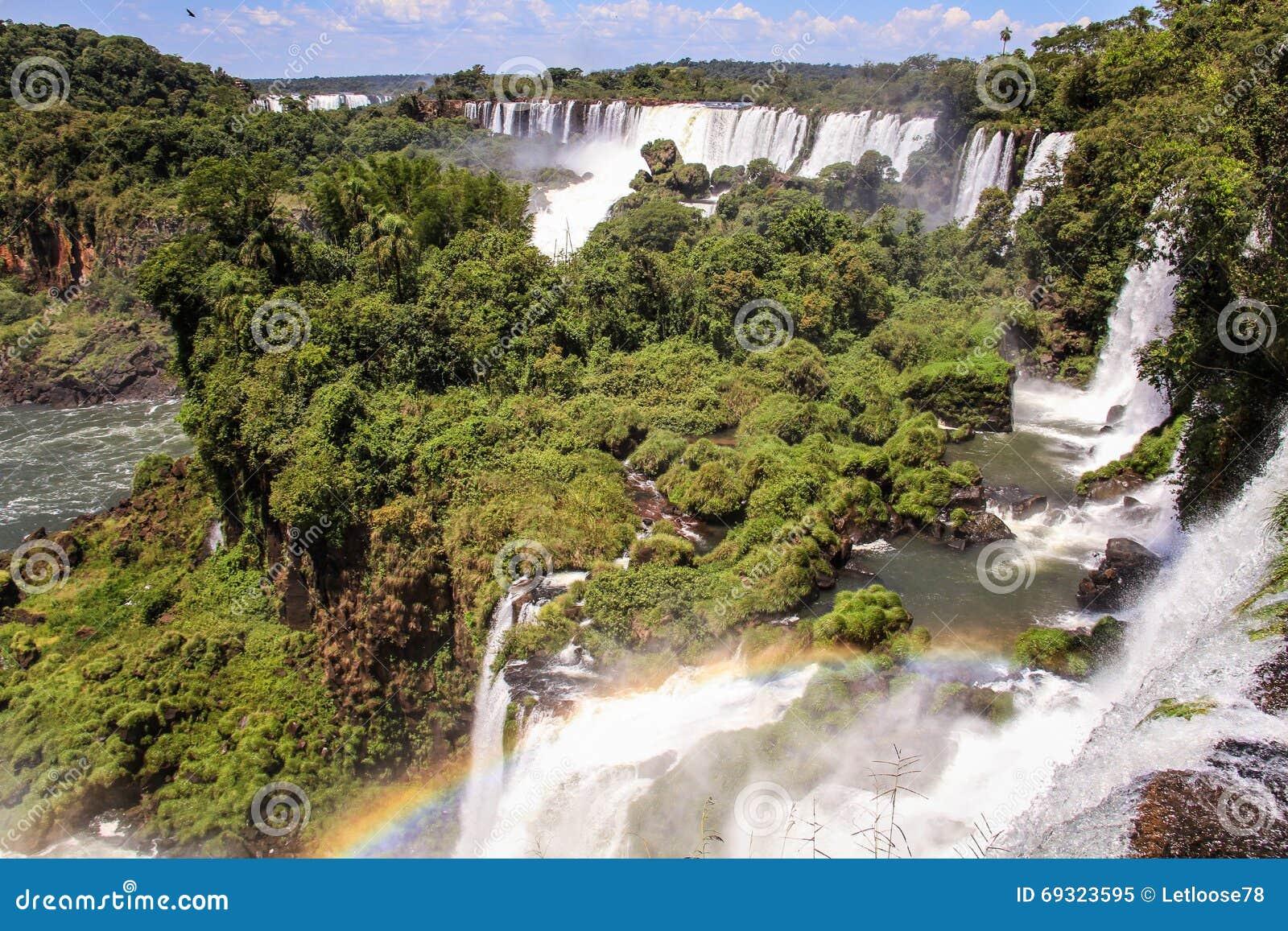 Mening over Iguazu-dalingen, Argentijnse kant, Argentinië