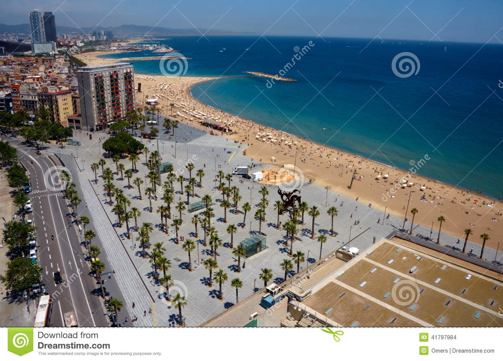 Mening van Barcelona van hierboven