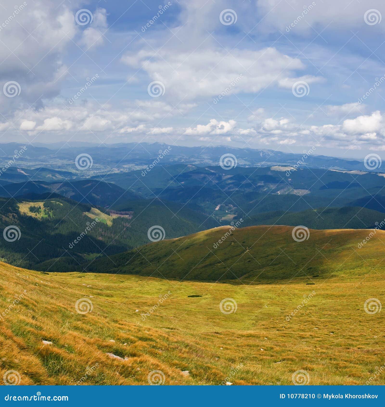 Mening van berg Karpaty