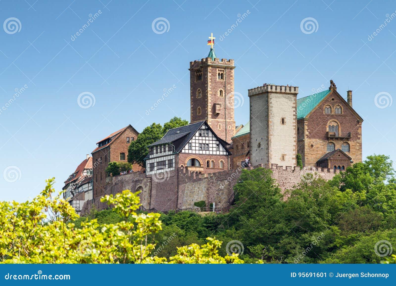 Mening van beroemd Wartburg - een plaats van de werelderfenis