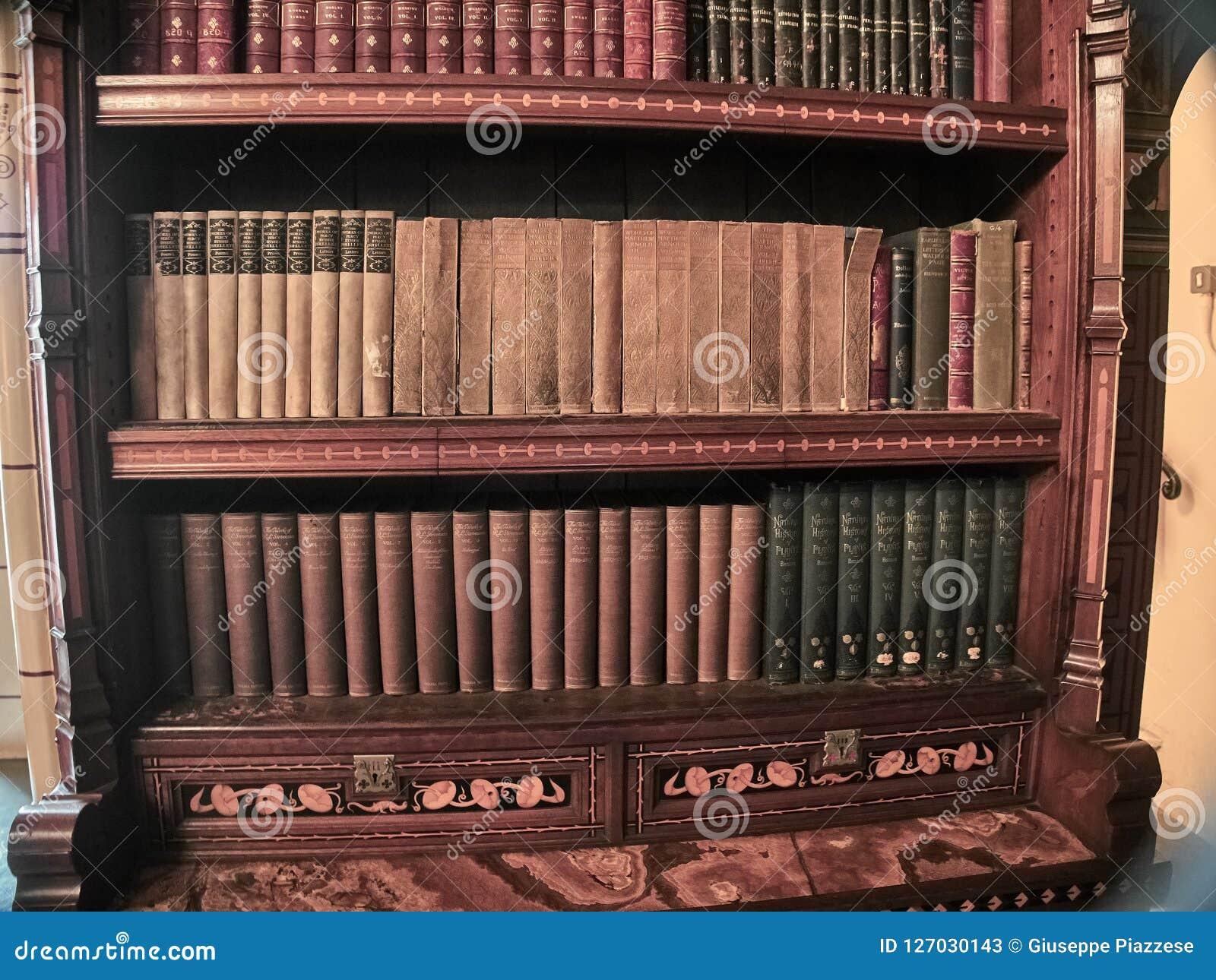 Mening van de bibliotheken van het Kasteel van Cardiff