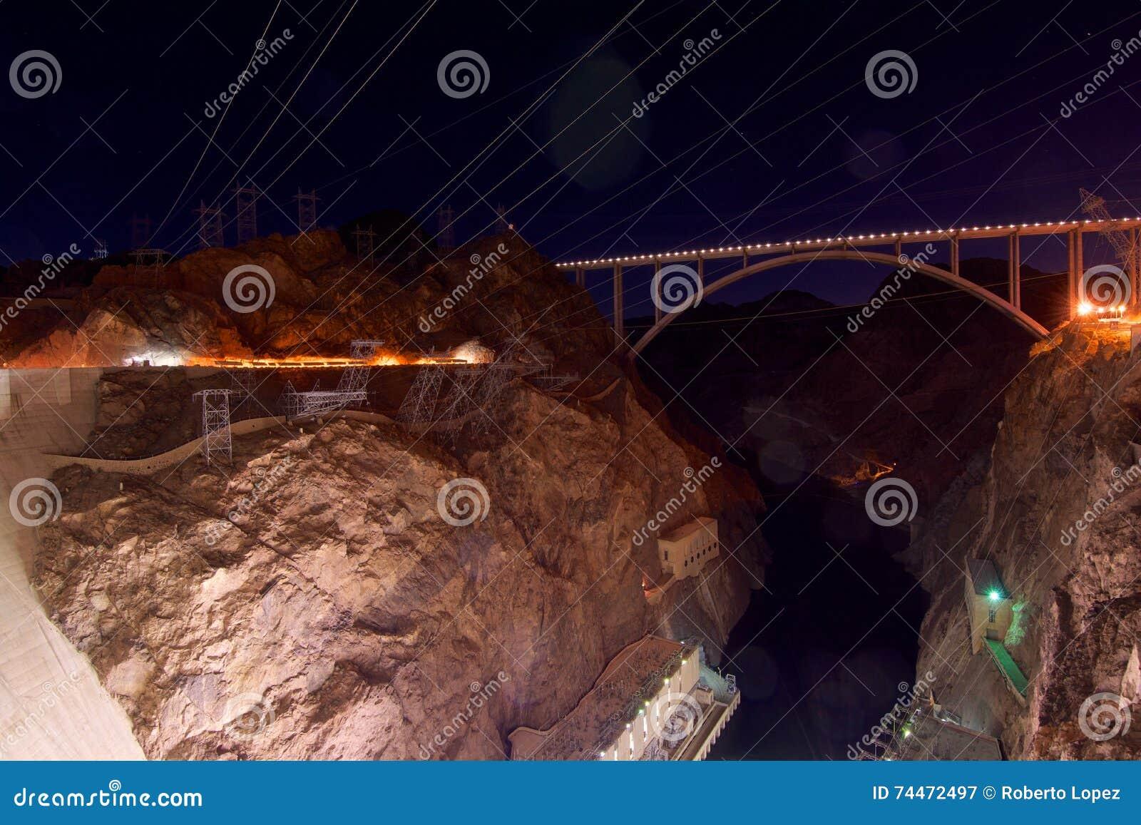 Mening van de brug voor de Hoover-Dam
