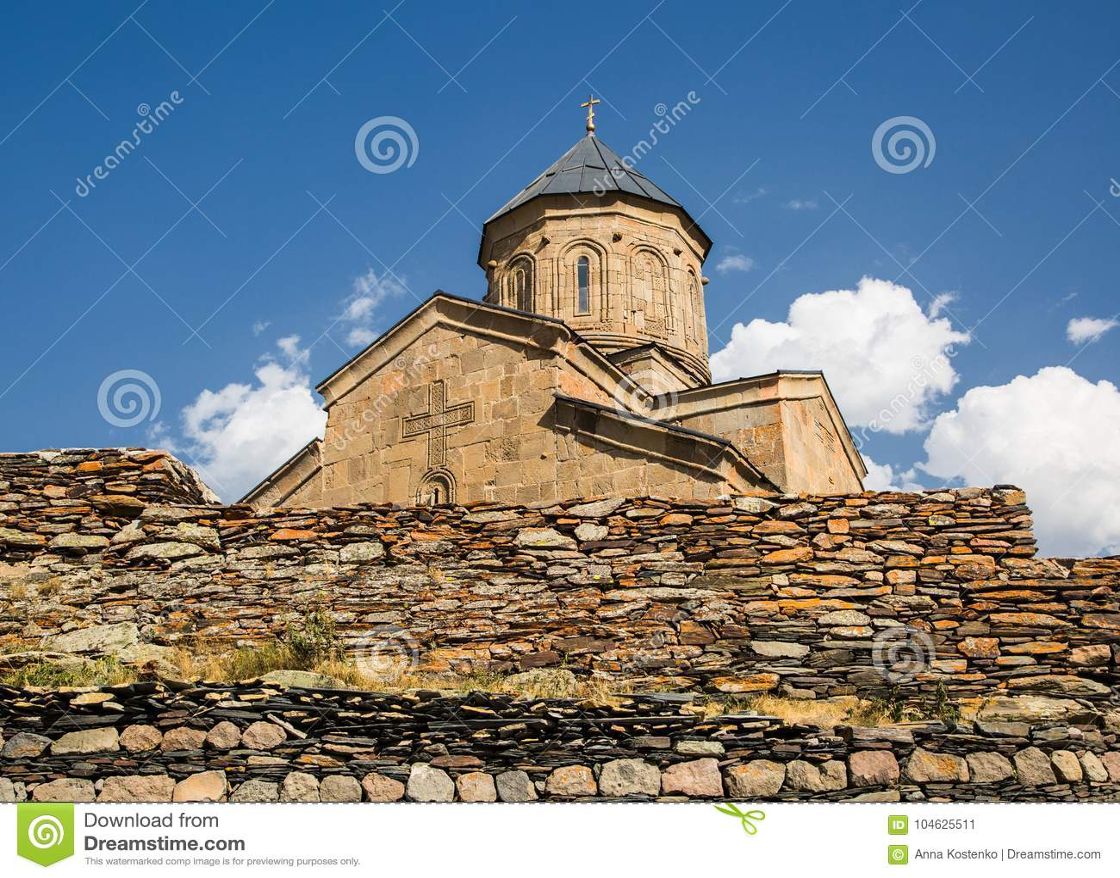 Download Mening Van De Gergets-Drievuldigheidskerk Stock Afbeelding - Afbeelding bestaande uit drievuldigheid, tempel: 104625511
