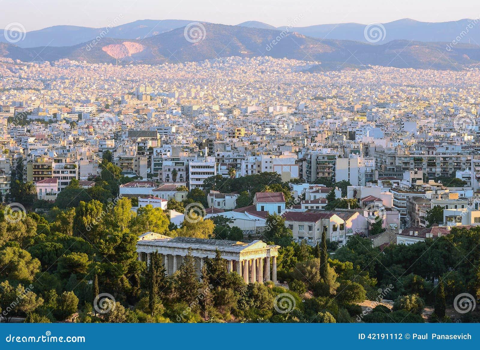 Mening van de hoofdstad van Griekenland