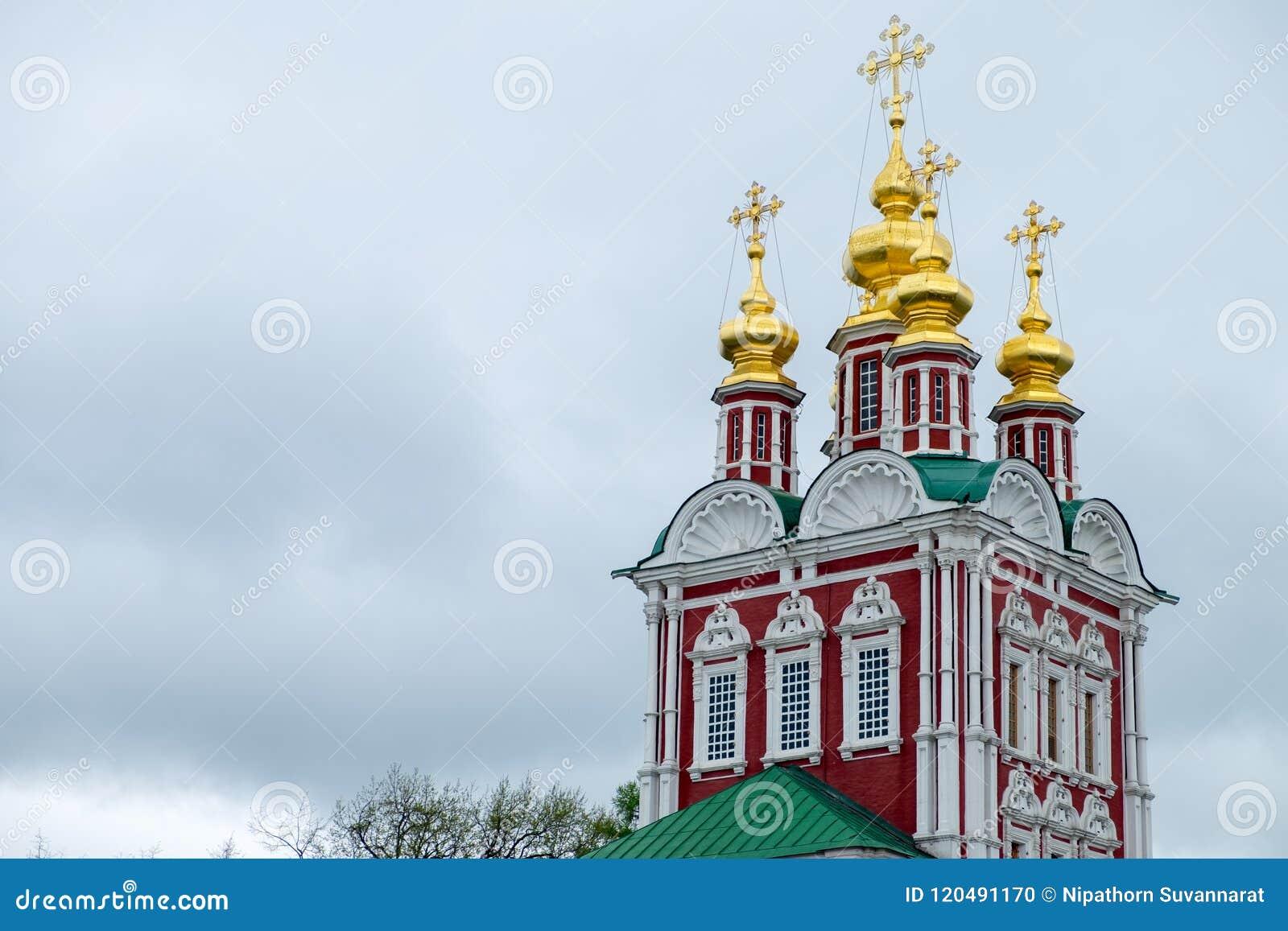 Mening van de kerken in kathedraalvierkant binnen het Kremlin