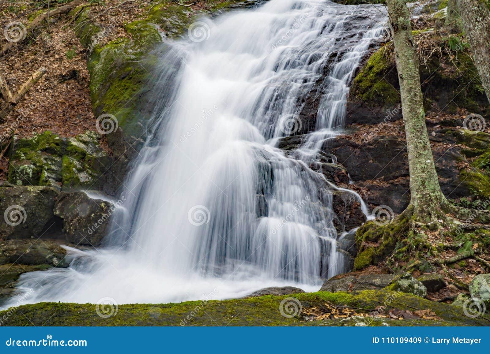 Mening van de Lagere Crabtree-Dalingen van Blauw Ridge Mountains, Virginia, de V.S.