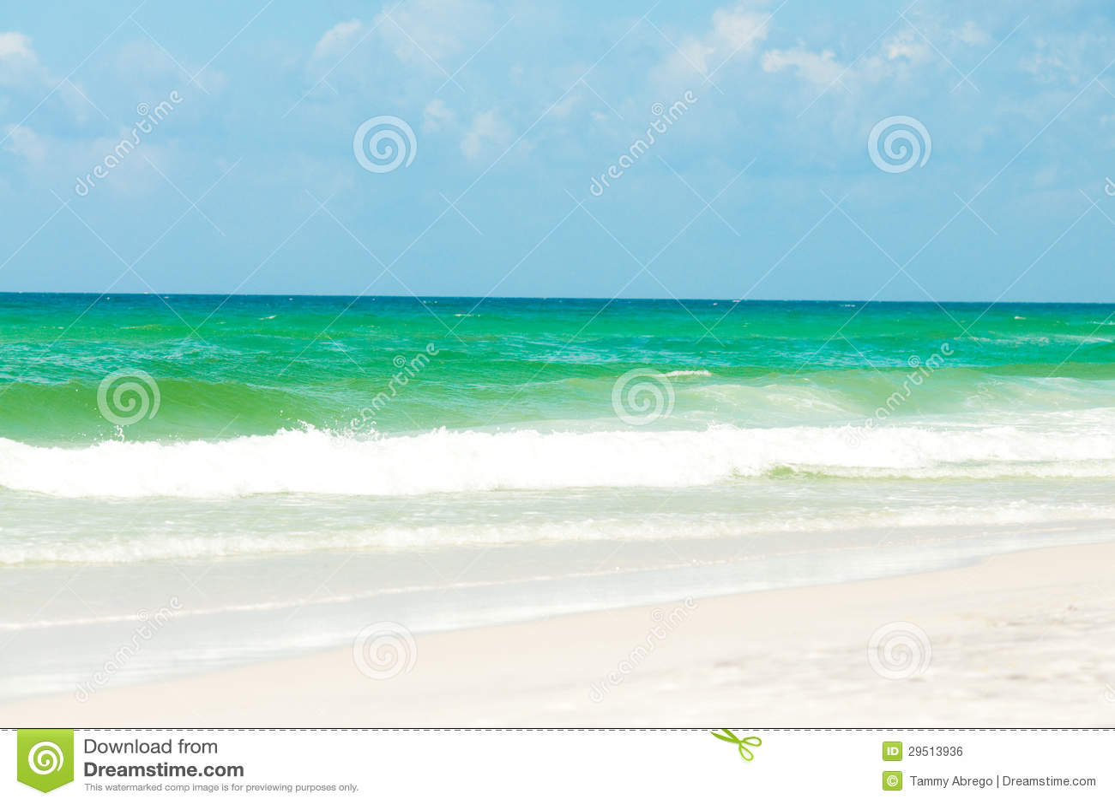Mening van de Oceaan van het strand