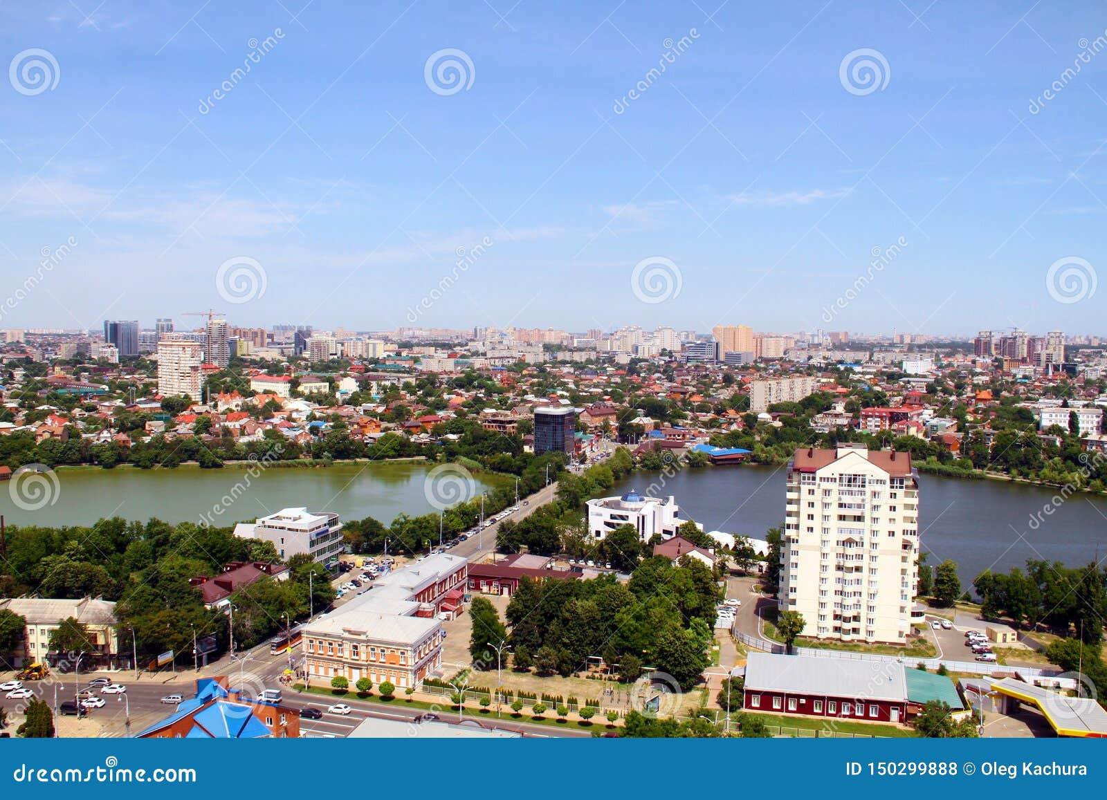 Mening van de stad van Krasnodar