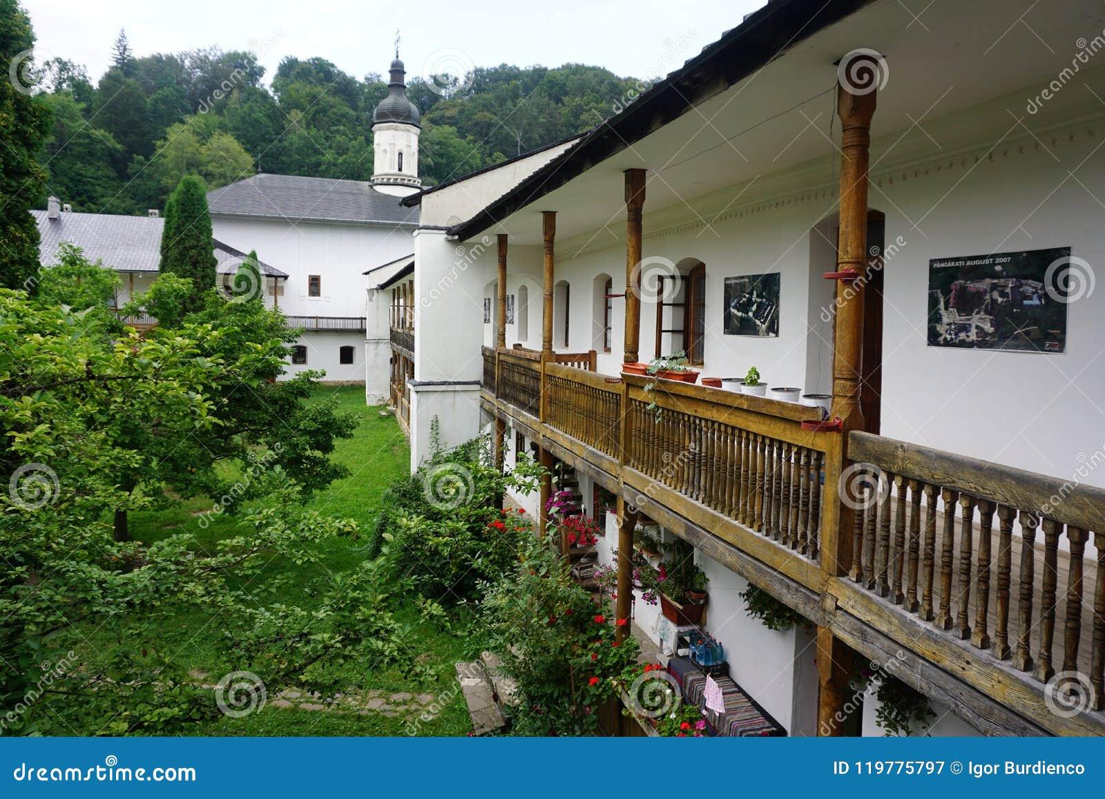 Mening van de tuin van het balkon