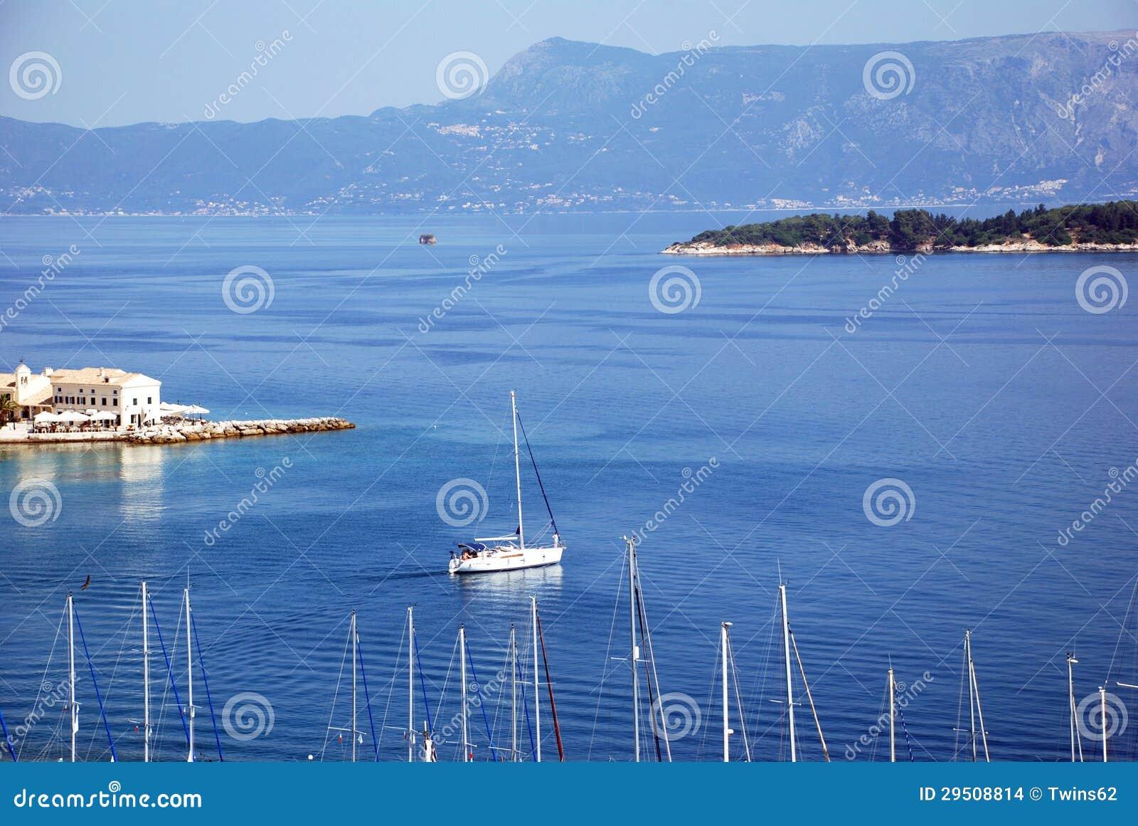Mening van de vesting in Kerkyra, Korfu, Griekenland