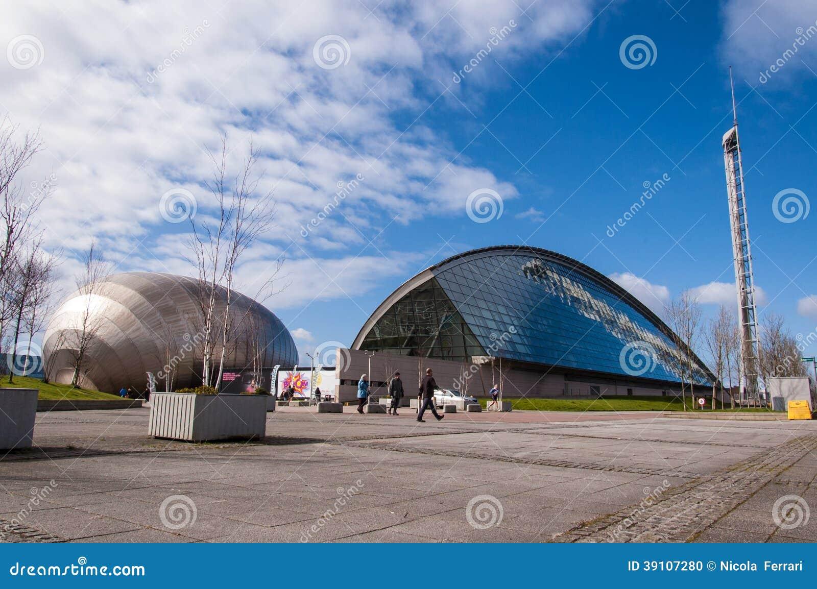 Mening van de wetenschapsmuseum van Glasgow en Imax-bioskoop