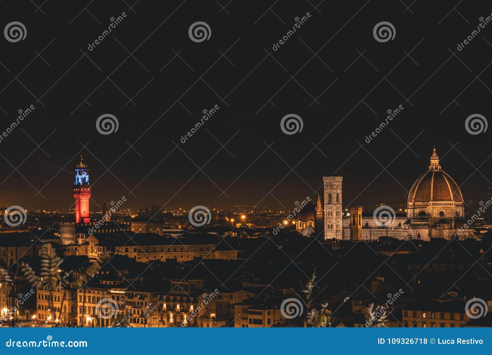 Mening van Florence tijdens de nacht