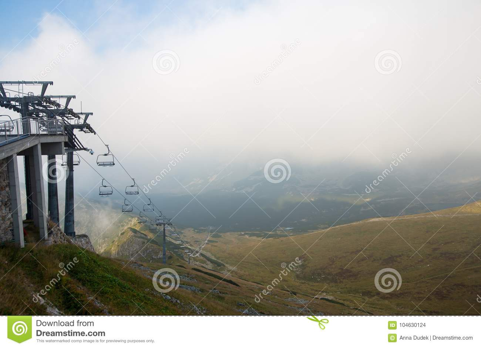 Download Mening Van Kasprowy Wierch, Tatry, Polen Stock Foto - Afbeelding bestaande uit kabel, europa: 104630124
