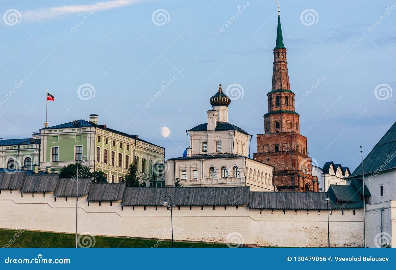 Mening van Kazan het Kremlin