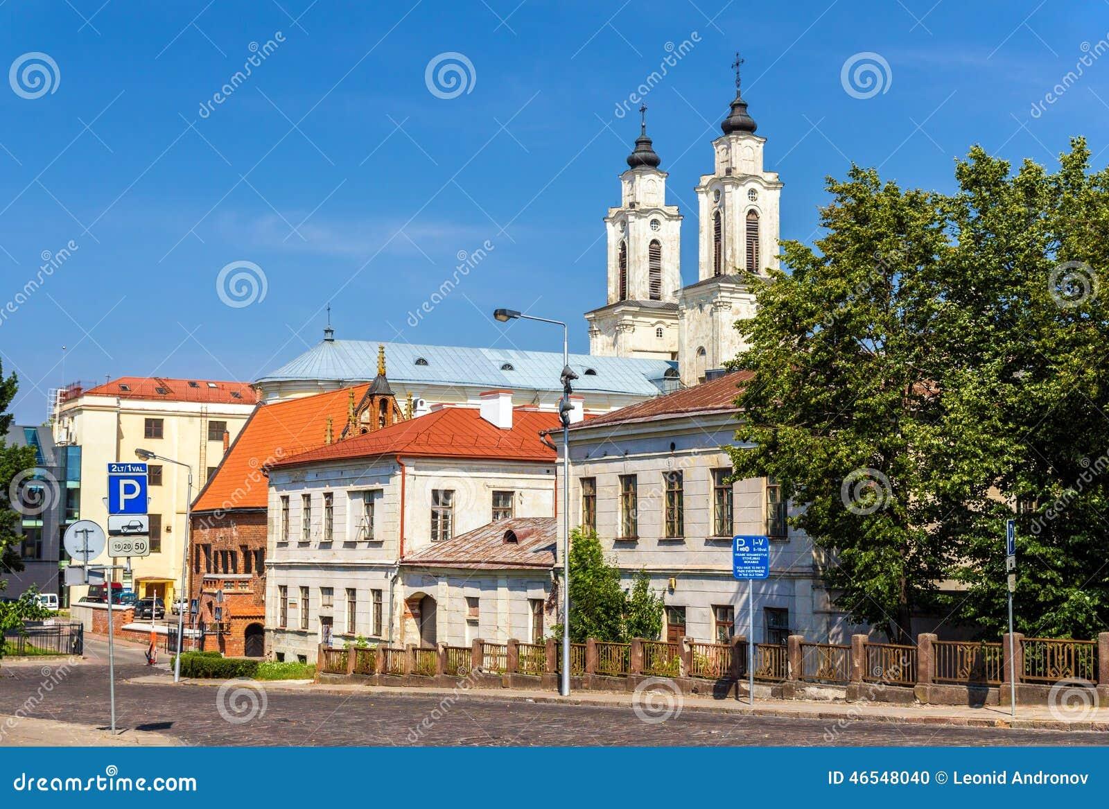 Mening van Kerk van St Francis Xavier in Kaunas
