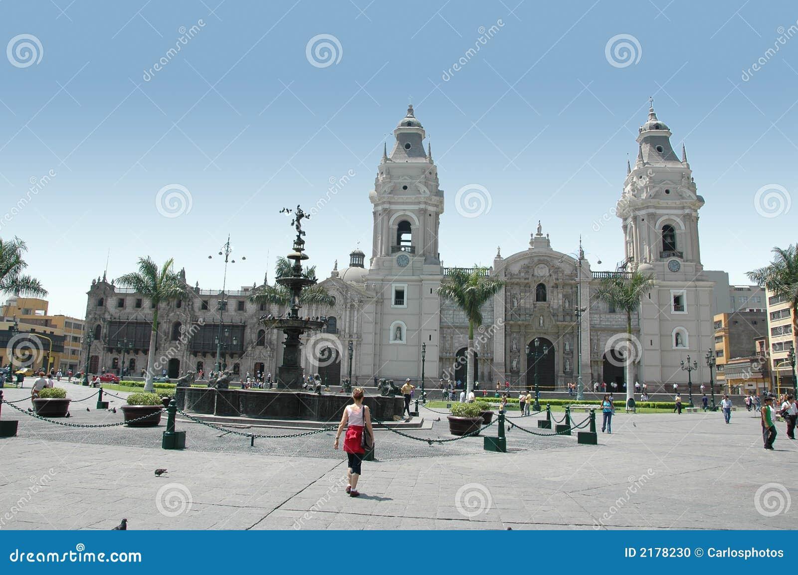 Mening van Lima Peru van de binnenstad