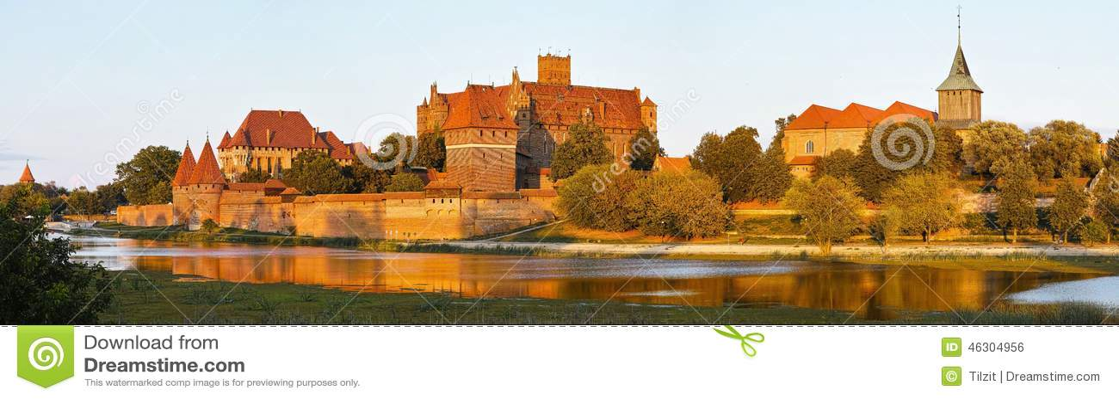 Mening van Malbork-kasteel in Polen