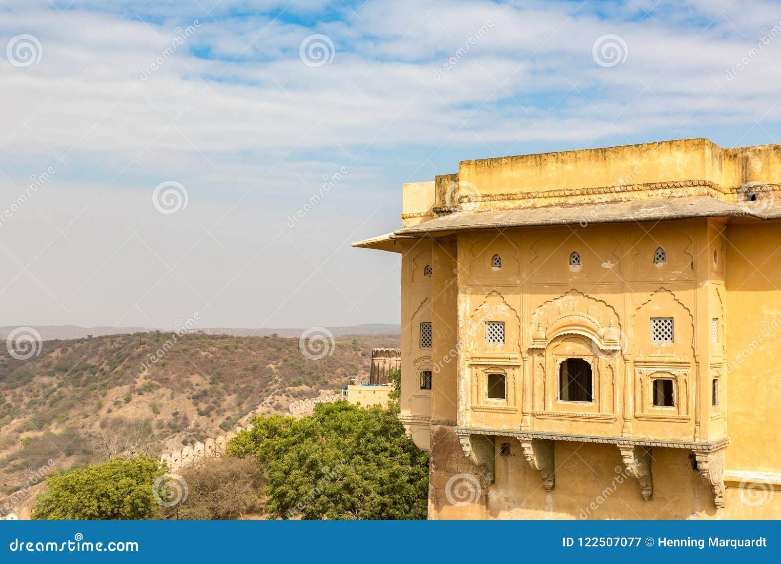 Mening van Nahargarh-Fort, Jaipur, Rajasthan, India
