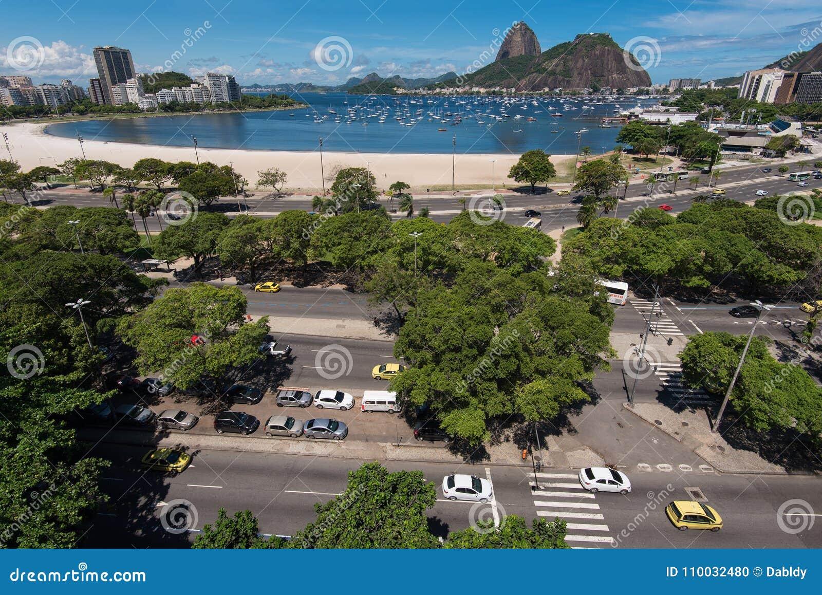 Mening van Straten in Botafogo, Rio de Janeiro