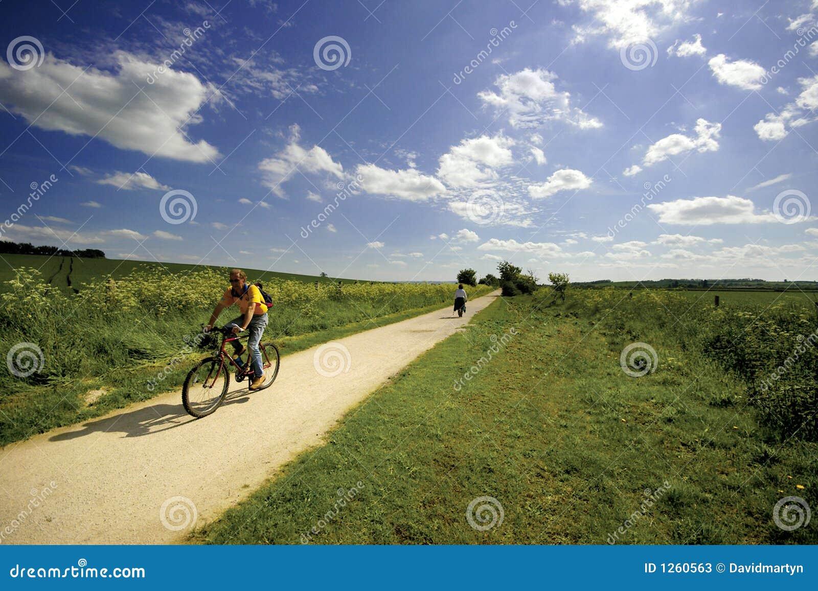 Meningen van de niet meer gebruikte spoorweg van het Voetpad Greenway en van het rijwielpad
