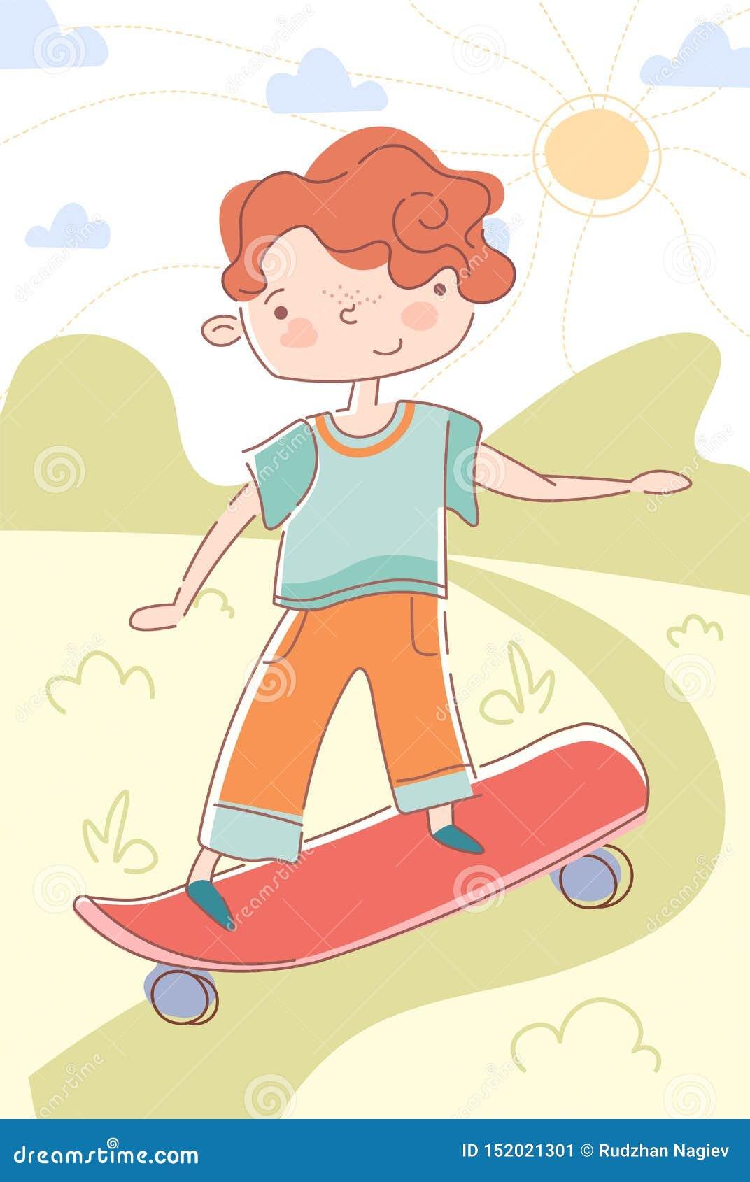 Menino novo que patina abaixo de um trajeto em um skate
