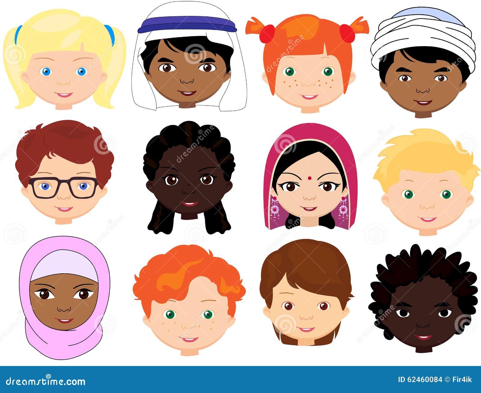 Meninos E Meninas De Nacionalidades Diferentes Childre
