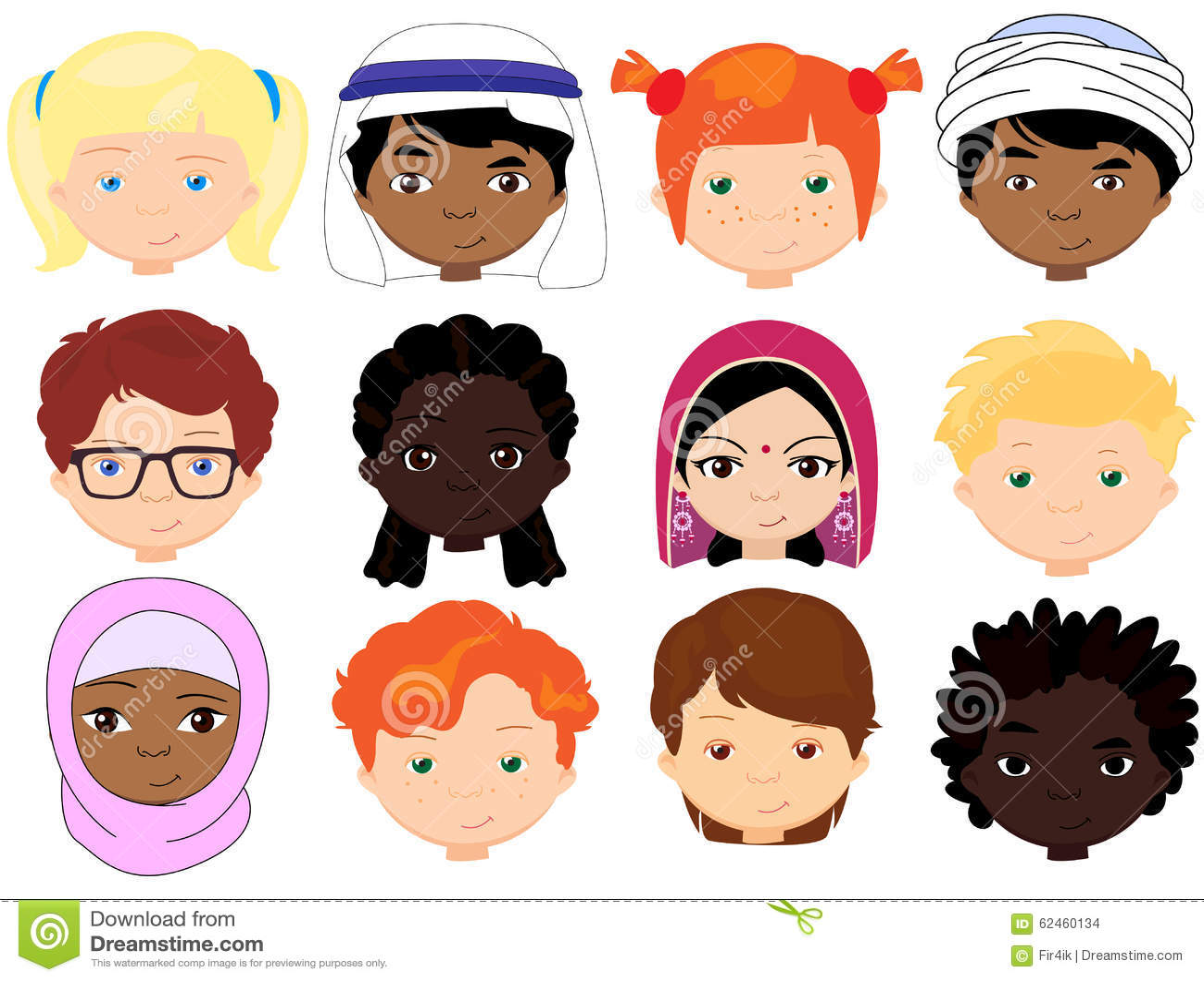 Dibujos De NiÑos Por Nacionalidades: Meninos E Meninas De Nacionalidades Diferentes Childre