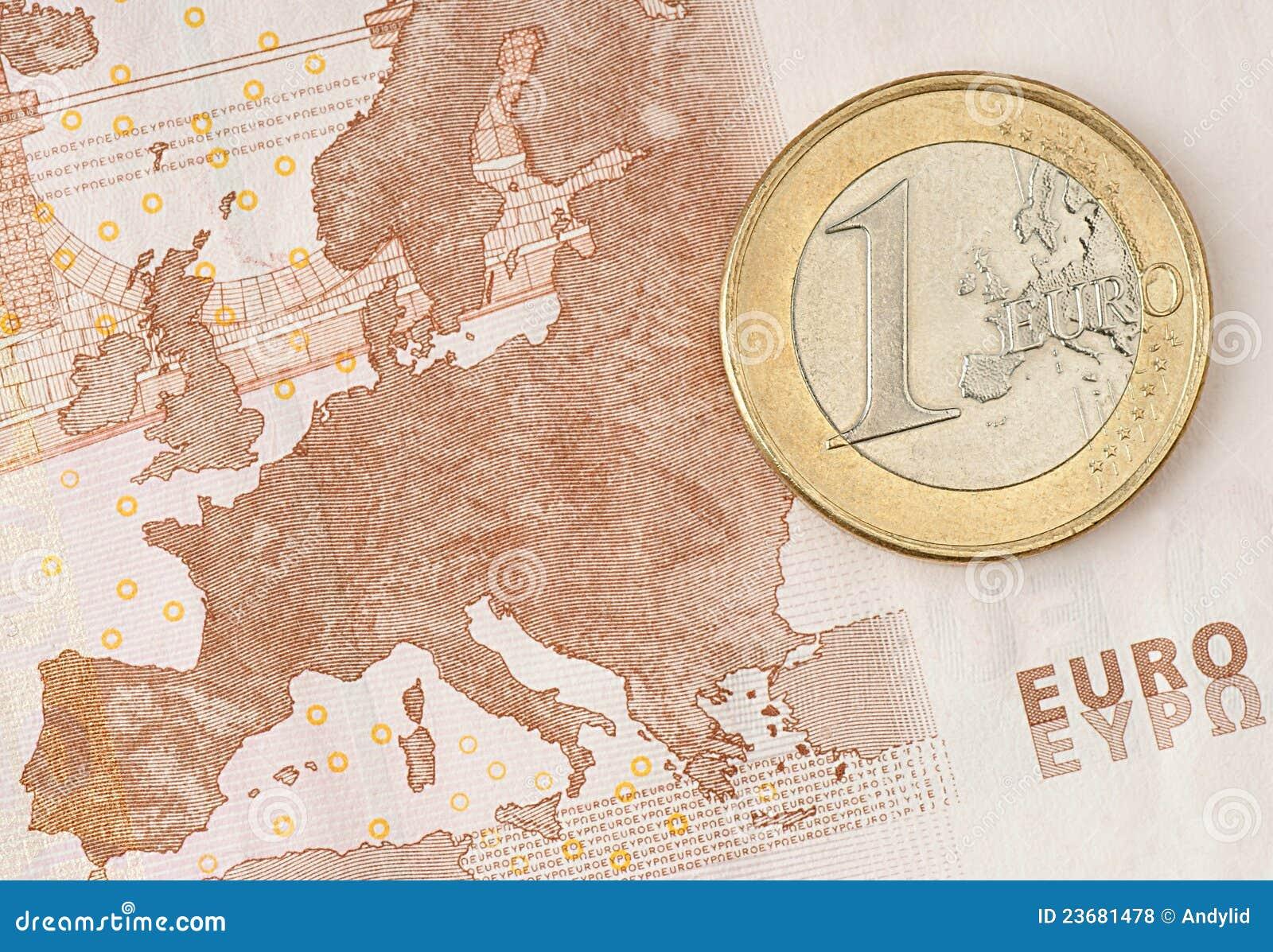 Menniczy banknotu euro jeden