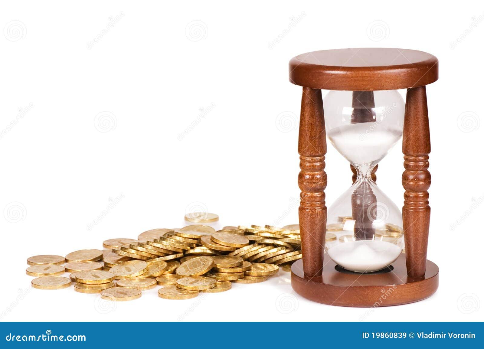 Menniczy pojęcia hourglasses czas